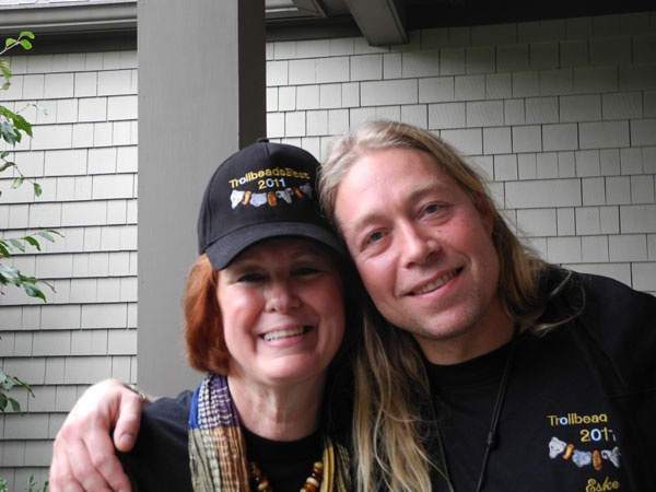 Our dear member Frede with Eske Storm during Trollbeads Fest! 2011.  Great shot at the Gallery!!