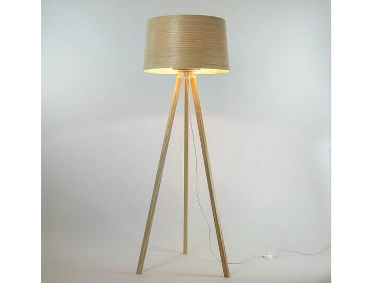 Luminária de pé feita à mão de madeira HELIX by Tom Raffield   design Tom Raffield