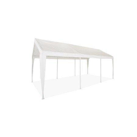 10' x 20' Canopy Carport Canopy 1 3/8 inch frame, White