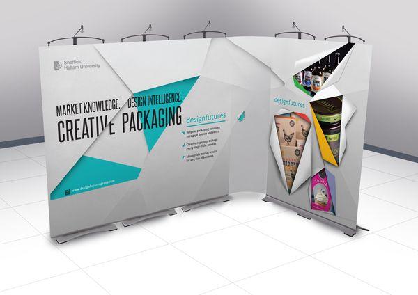 Design Futures exhibition materials by Alex Tomkins, via Behance
