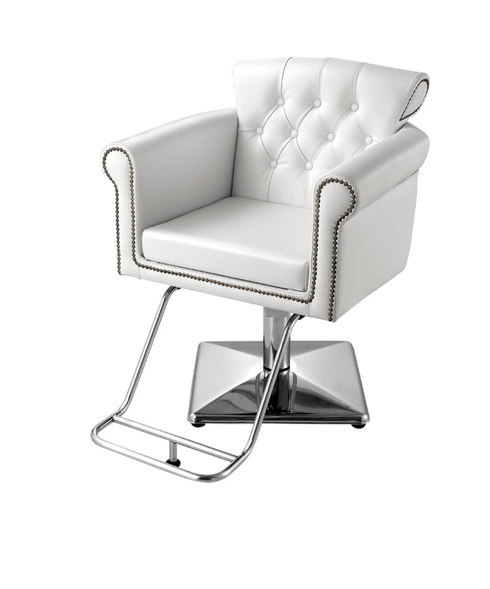 The cornwall styling chair in white standish furniture for Salon chairs