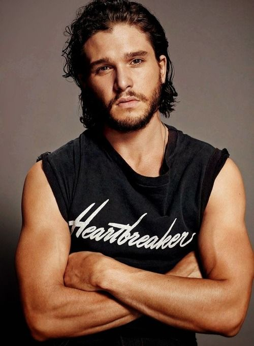 Beardy Goodness #iheartjonsnow Love me some Kit Harington. Game of Thrones can't come back soon enough <3