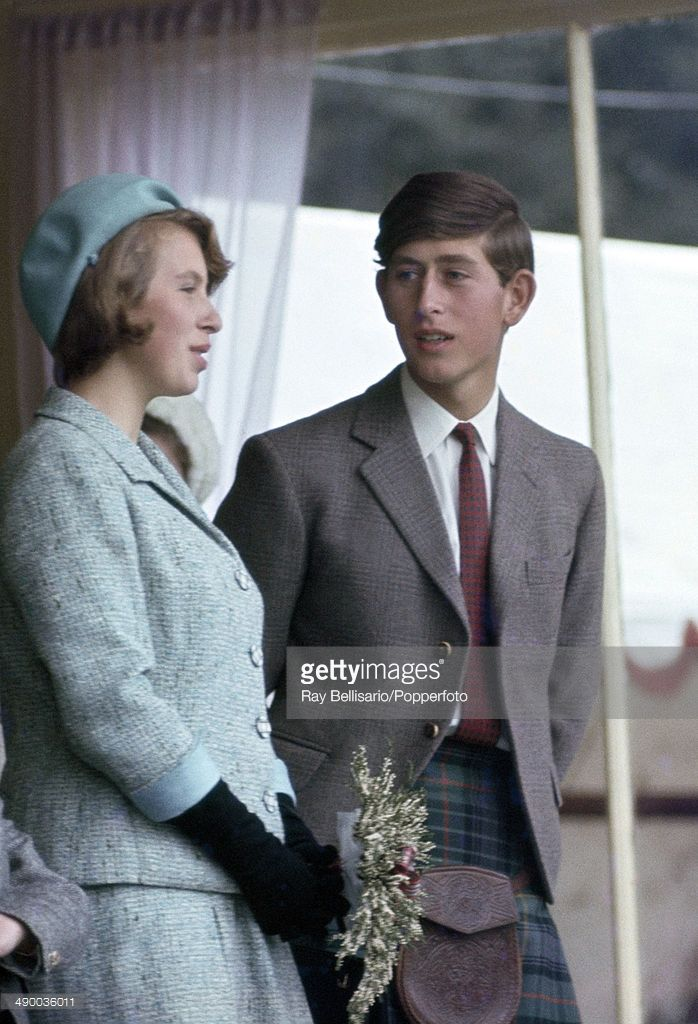 Princess Anne and Prince Charles at the Braemar Highland Gathering in Scotland on 8th September 1966. (Photo by Ray Bellisario/Popperfoto/Getty Images)