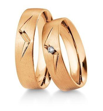 Breuning Trouwringen | Inspiration collectie gouden ringen | 5,5mm briljant 0.03ct verkrijgbaar in 8,14 en 18 karaat | 48041390 / 48041400 OOK in geel en wit goud verkrijgbaar