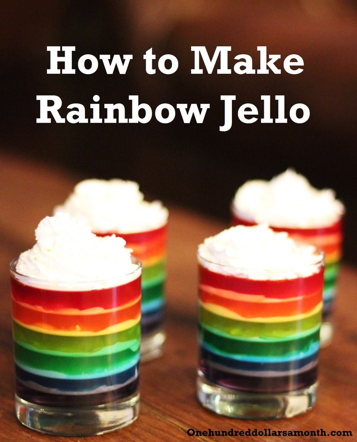 How to make rainbow jello shots for St. Patty's Day
