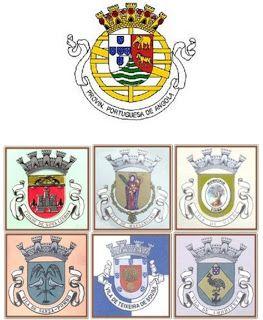 A  Colónia Portuguesa de Angola, emitiu o 1º selo, do tipo Coroa, de 5 réis, em 1870. Até 1974, muitas emissões de selos CTT , (os selos eram litografados na Casa da Moeda Lisboa). No período de 1961 a 1963, Angola emitiu  séries de selos Desporto; Erradicação do Paludismo; 500 da Cidade de Nª: Lisboa; Escudos de Armas de Cidades e Vilas de Angola; 15º. Aniversário do Serviço Internacional   ao Gafanhoto Vermelho; Viagem Presidencial; Escudos de Armas de Cidades e Vilas de Angola