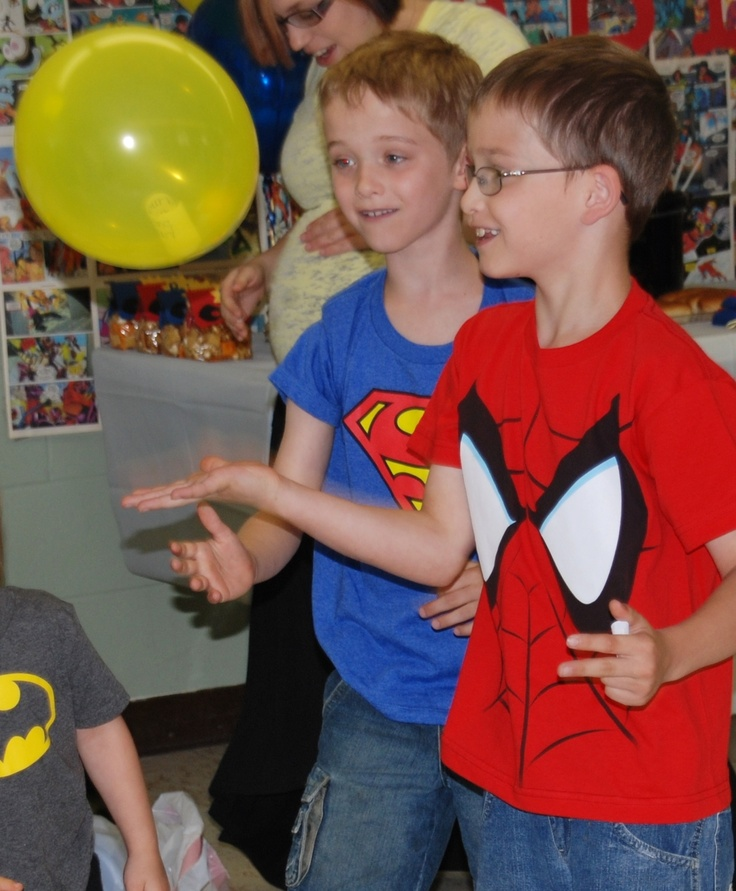 Superhero Baby Shower. Game Two. Hot Balloon. With Music Playing, Hit  Balloon