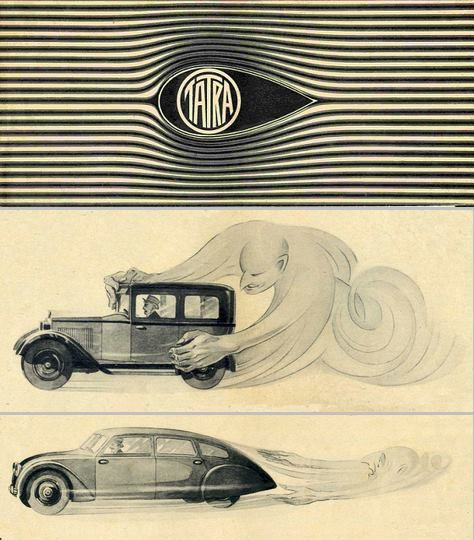 Either Tatra was trying to save us all from the Devil, or they're weirdly proud about having figured out aerodynamics.