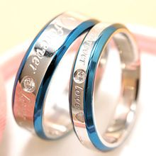 """2016 Fashion Jewelry 316L Stainless Steel Simple Circle """"Forever Love"""" Couple Rings,Wedding Ring,Engagement Rings HR001"""