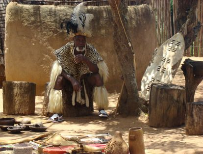 """Inkosi is a chief, the leader of the tribe. """"Cry for the broken tribe, for the law and the custom that is gone. Aye, and cry aloud for the man who is dead, for the woman and children bereaved."""" I chose this picture because it shows a custom that is rare now, and many tribes in Africa were torn apart and never restored."""
