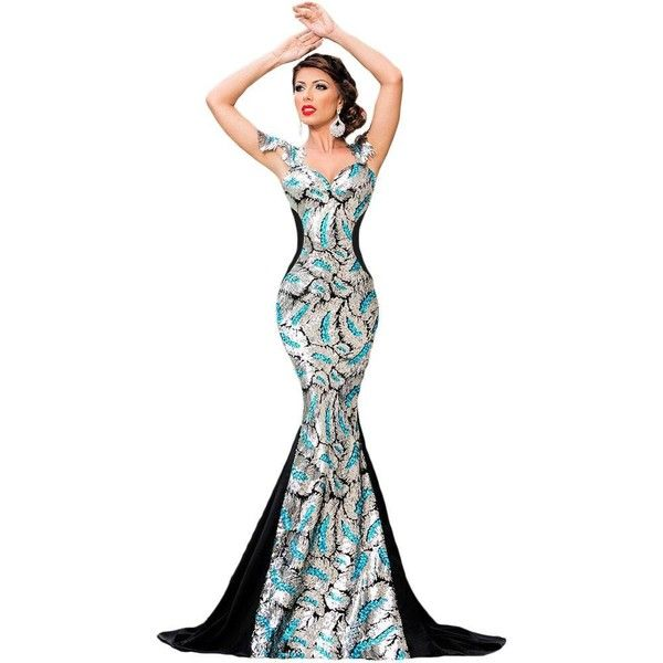 Robes De Soiree Argent Sequin Embellissement elegante Mermaid Robe ($45) ❤ liked on Polyvore featuring intimates, robes, petite robes, dressing gown, petite bathrobes, bath robes and sequin robe