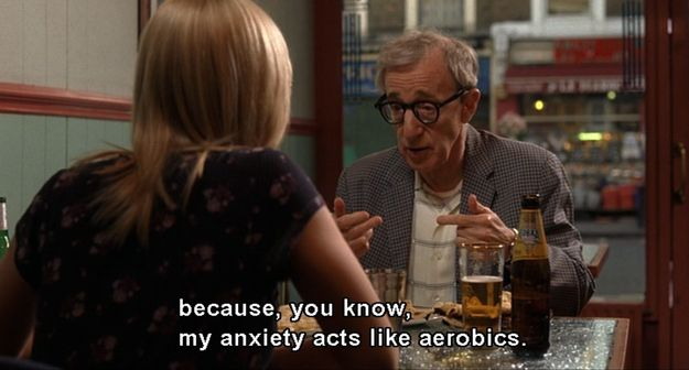 """""""I never gain an ounce because, you know my anxiety acts like aerobics..."""" This explains me perfectly."""