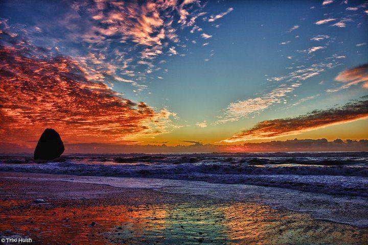 Michigan Fall Wallpaper Oregon Coast Gold Beach Sunset Favorite Time Of Day