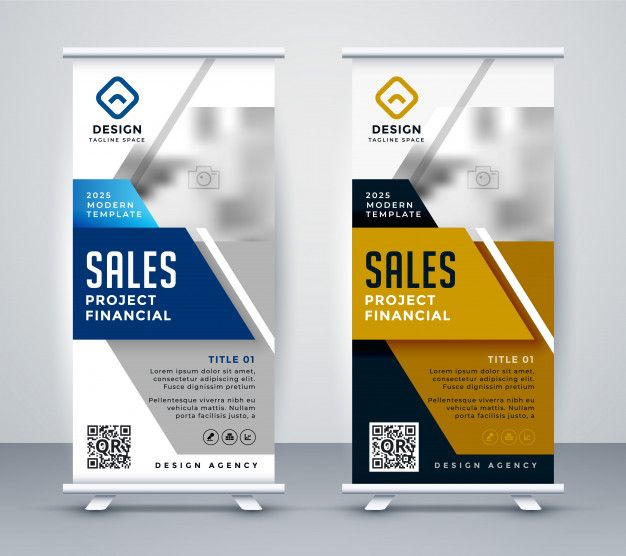 Download Modern Standee Rollup Banner For Marketing For Free In 2020 Rollup Banner Banner Retractable Banner Design
