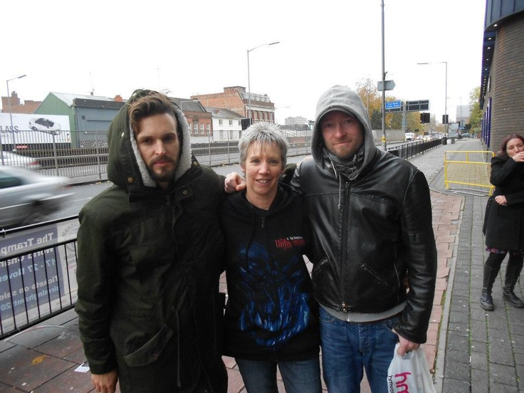 """Here I am with Stefan & Ruud at the 02 Academy on 8th November 2011″ By Sandra Sanders"