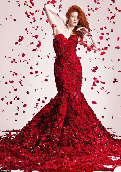 Valentine's Day dress of flowers#LoveIsInTheAir #Love #Hearts