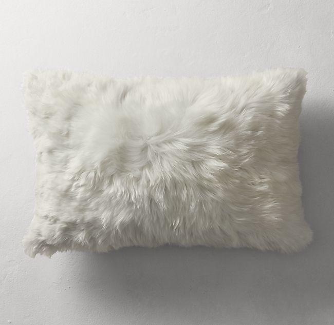 Alpaca fur pillow | Etsy