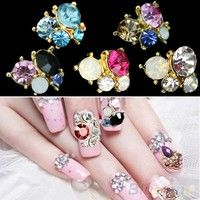 New and high quality crystal nail art studs tips, so shiny It make your nails look elegant, special