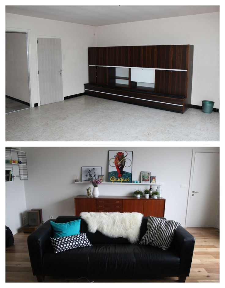Before/ After: our Scandinavian, vintage inspired living room