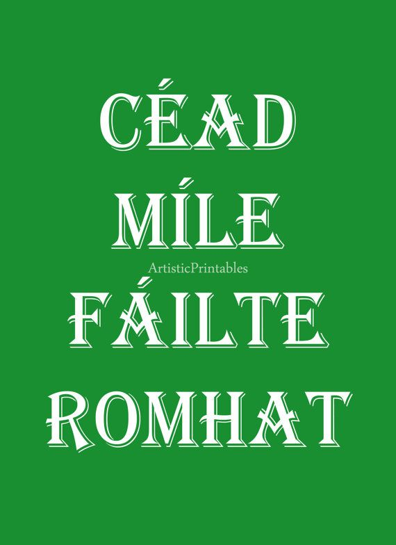 Irish Language Digital Art Print by ArtisticPrintables on Etsy
