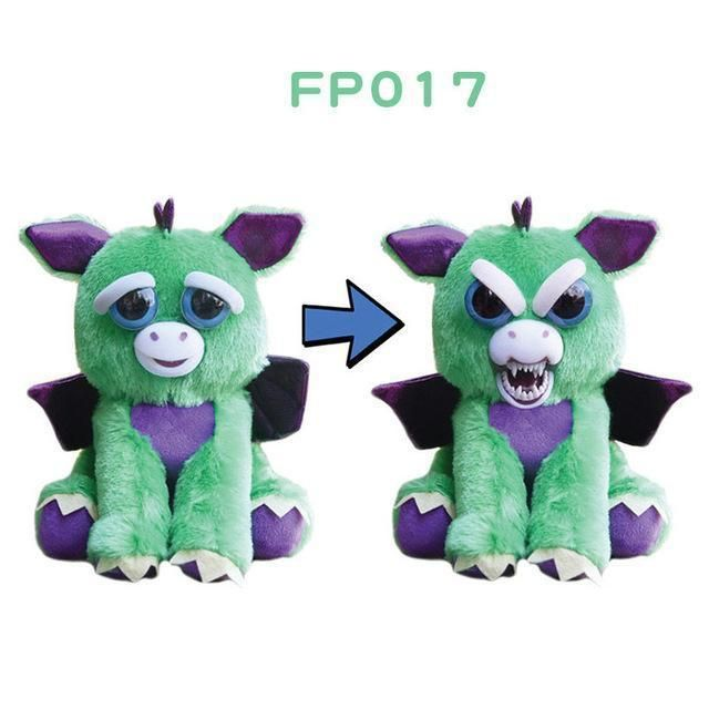 Original Feisty Pets Change Face Animal Stuffed Plush Toys Unicorn