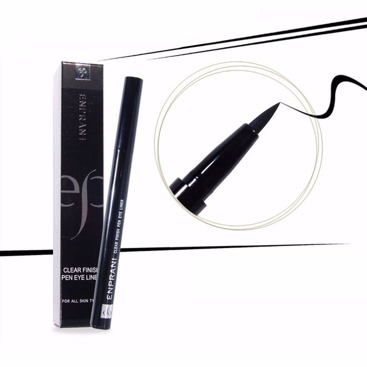 Enprani Clear Finish Brush Pen Eye Liner Black #Enprani