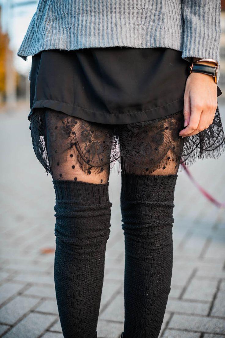 Overknee Socken stylen Trendblog Deichmann