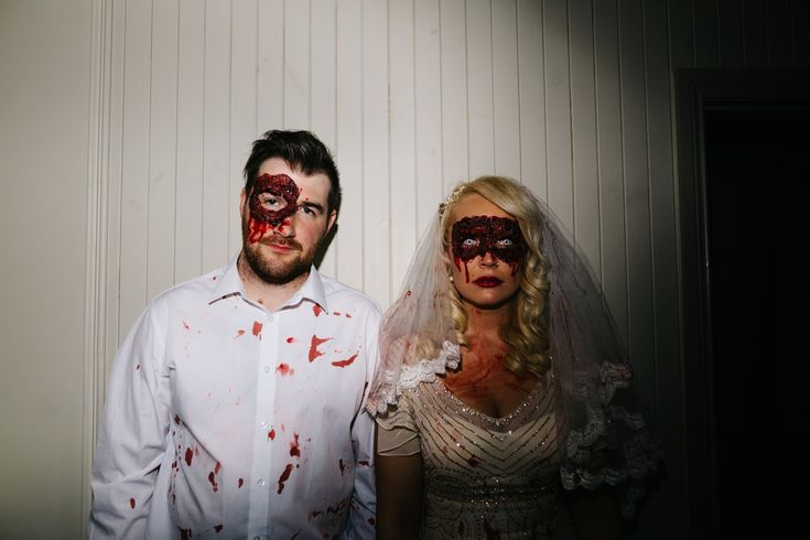 Halloween wedding on Lusty Beg Island Northern Ireland