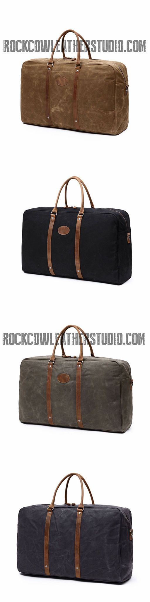 Waxed Canvas Travel bag, Sample Design Weekend Overnight Bag, Gym Bag FX001