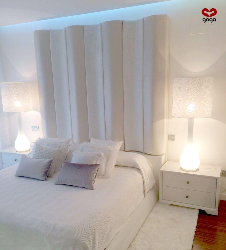 #Cabecero de nuestra colección Fenix perteneciente a un amueblamiento de Goga #Interiorismo #dormitorio