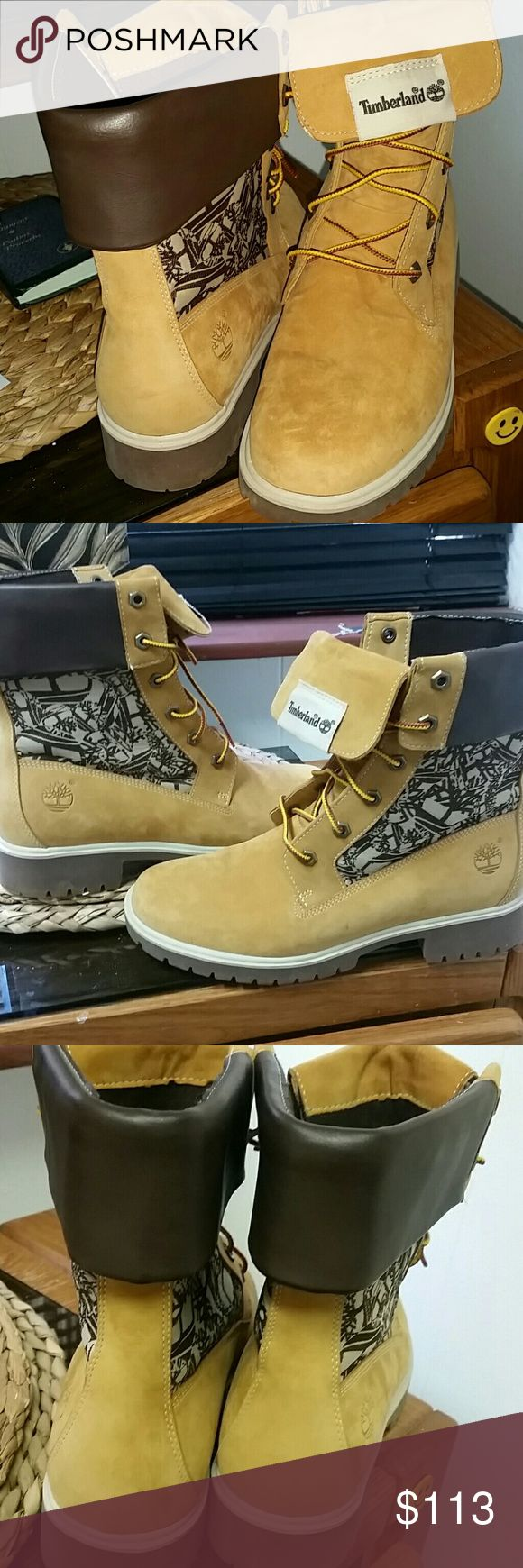 8.5 women's tims Too big for me:(((( they were a gift and I asked how much and he said $125/sale so price is firm or I will stuff socks in my foot :oP so sad cuz I love them:(((no returns due to sale Timberland Shoes Combat & Moto Boots