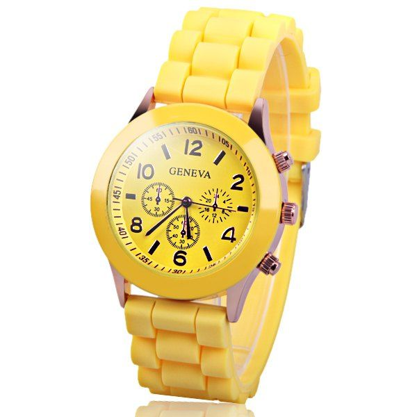 Geneva  Women Candy Color Quartz Watch with Round Dial Analog Indicate Rubber Watch Band #>=#>=#>=#>=#> Click on the pin to check out discount price, color, size, shipping, etc. Save and like it!