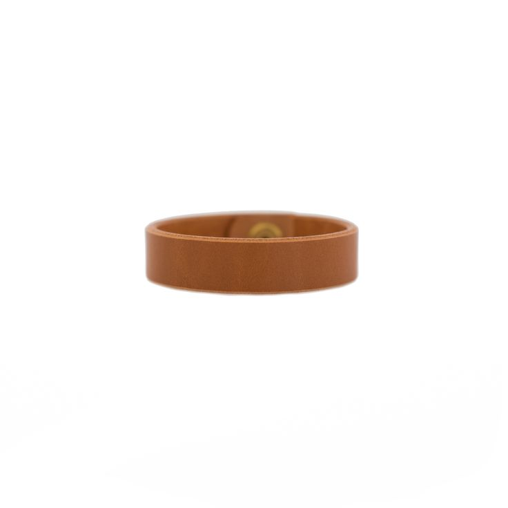 London Tan Thin Leather Cuff Nickel and Suede