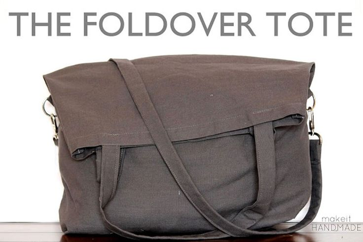 Foldover Tote #Sewing Tutorial || sewingrabbit.com. Tutorial with pics