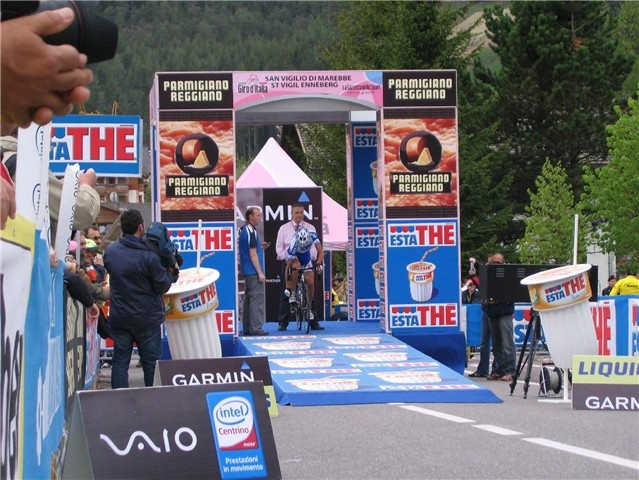 Tour of Italy 2008 - Start of the time trial at Plan de Corones.