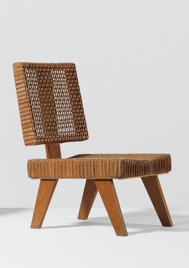Pierre Jeanneret; beech and Cane for the Yves Korbendau Residence, c1966.