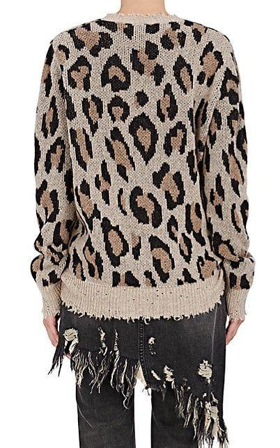 bc3a4918d24c R13 Leopard-Print Cashmere Sweater - Sweaters - 505282566 | Love ...