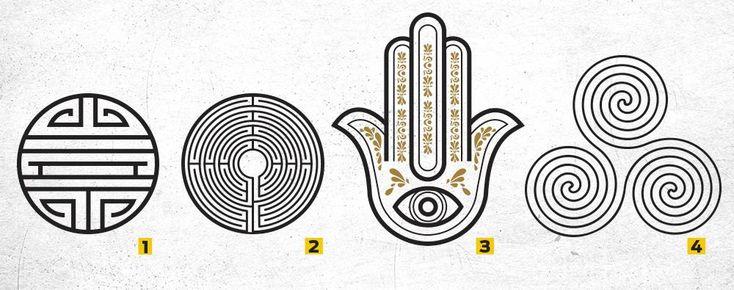O que significam os símbolos com espirais ou padrões complexos? Muitos povos antigos usavam desenhos para simbolizar os poderes de deuses e outras entidades sobrenaturais. Outros, criavam intricados signos de proteção