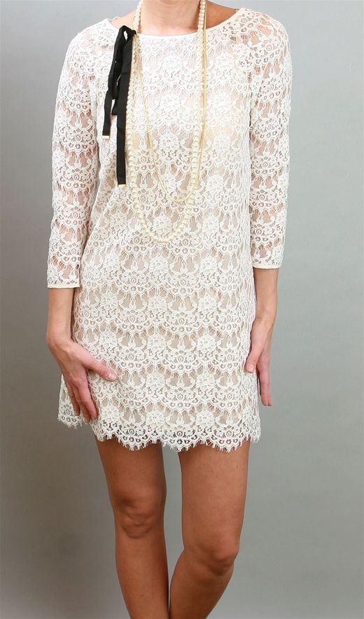 Rehearsal Dinner dress or late night lace wedding dress