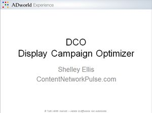 I video di Shelley Ellis sul Display Campaign Optimizer