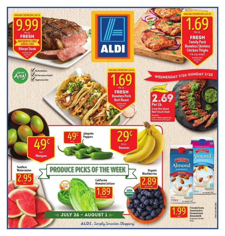 #Aldi Weekly Ad Jul 26 - Aug 1 United States #grocery savings ALDI USA circular