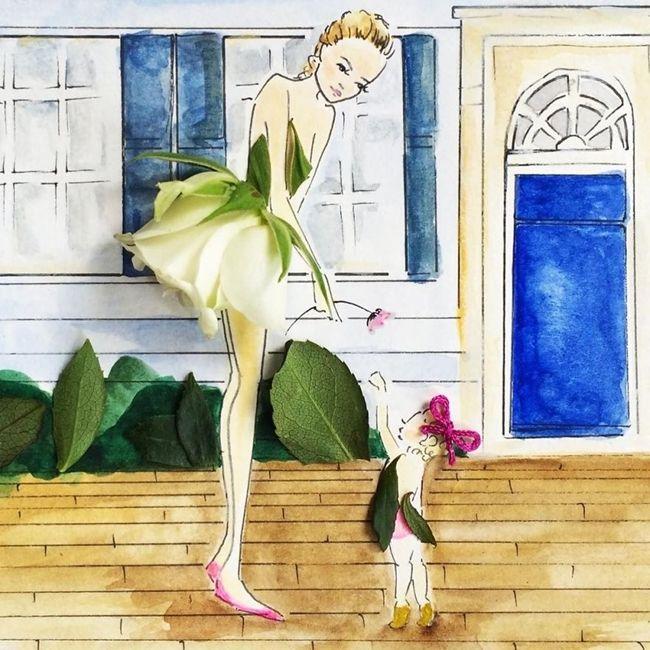 Çizimlerinde Sebzeleri ve Çiçekleri Kullanan Modacıdan 20 Olağanüstü İllüstrasyon Sanatlı Bi Blog 8