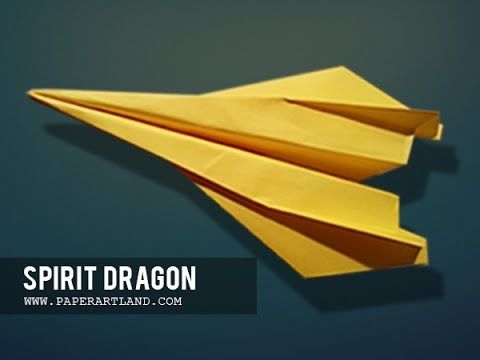 How to make the BEST STUNT Paper Airplane Ever   Spirit Dragon ( Tri Dang ) - YouTube