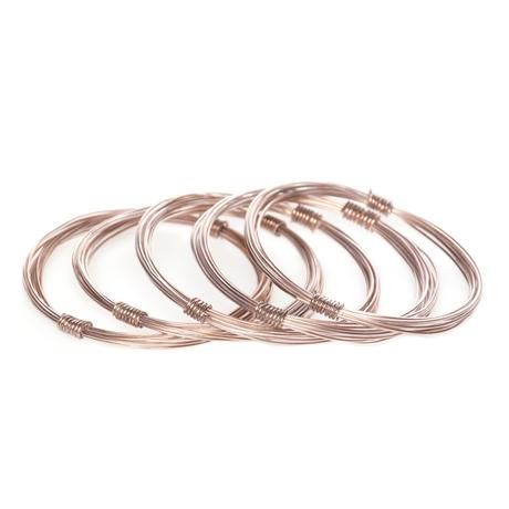 thumbnail for Cage Bangles Copper (set of 5)