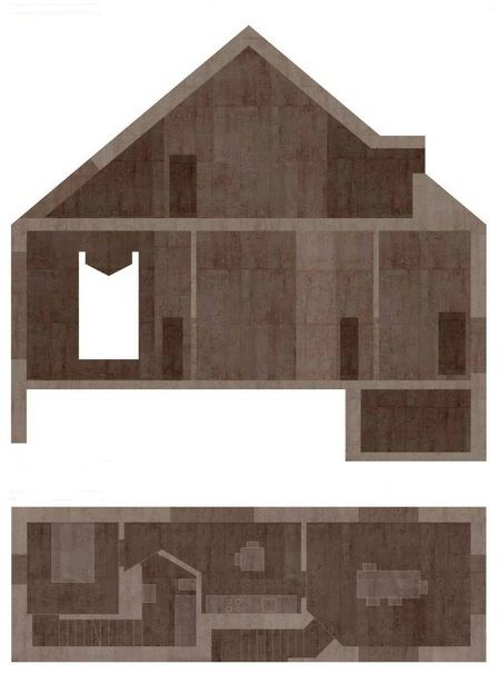 http://architectureau.com/articles/valerio-olgiati-and-unclaimed-meaning/  House for a priest by Valerio Olgiati
