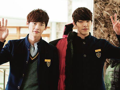 School 2013 /  Lee Jong Suk as Go Nam Soon / Kim Woo Bin as Park Heung Soo