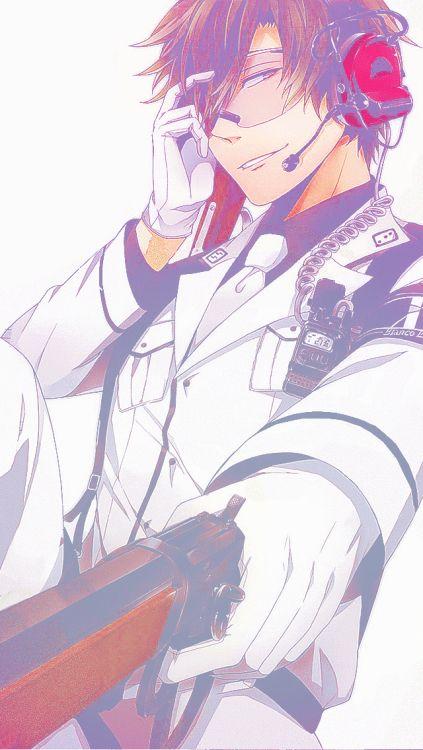 anime boy, anime guy, gun, manga, otaku, anime, aoharu x kikanjuu, aoharu x machinegun, hotaru tachibana, tooru yukimaru, masamune matsuoka, midori nagamasa