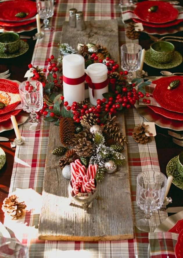 gartentische mit weihnachtsdekoration 25 ideen christmas tables pinterest christmas christmas tablescapes and christmas decorations - Christmas Plaid Table Runner