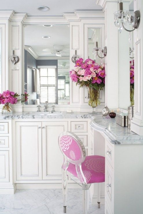 Decoration, Romantic Bathing Arrangement Ideas Beautiful White Modern Classic Bathroom With Cute Accent Design And Decoration Ideas ~ Simple Romantic Room Ideas to Bring Serene Mood into Your Room