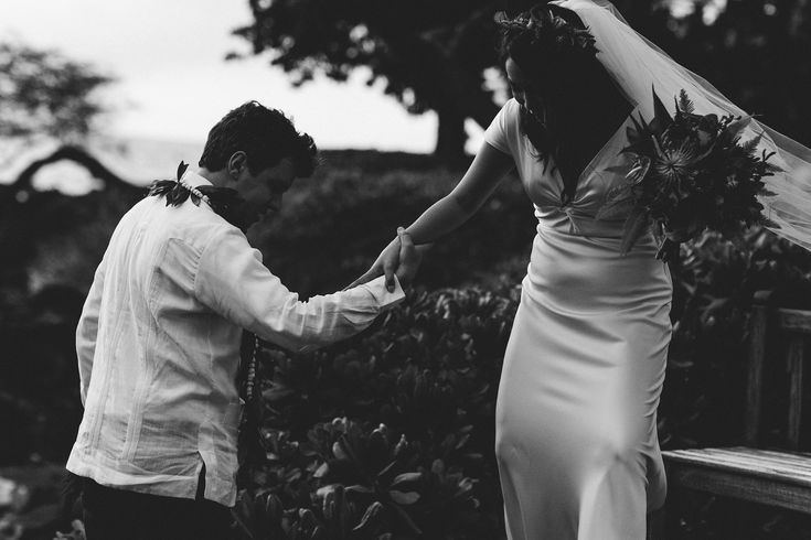 Mateo & Tina | Big Island Wedding | Book an appointment today to find your perfect Island Wedding Dress! Chee.